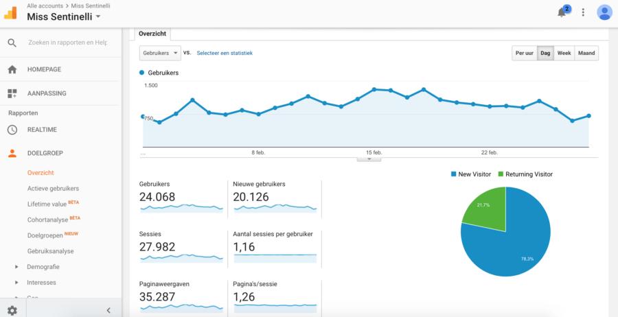 Blog statistieken Google Analytics