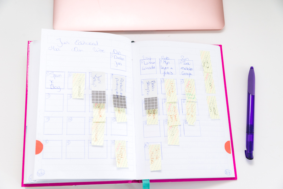 Bullet Journal juni setup - editorial