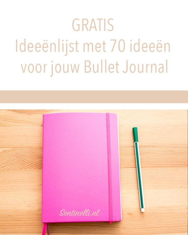GRATIS Ideeënlijst met 70 ideeën voor jouw Bullet Journal