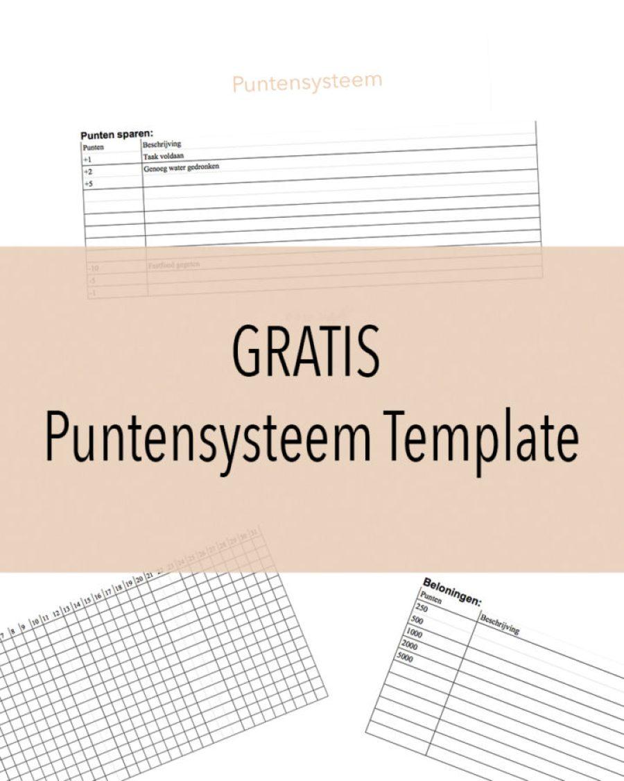 GRATIS Puntensysteem Template