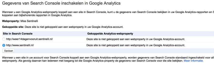 Google Analytics en Google Search Console koppelen