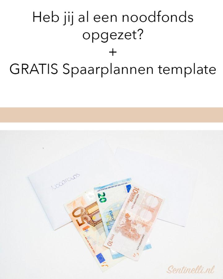Heb jij al een noodfonds opgezet? + GRATIS Spaarplannen template