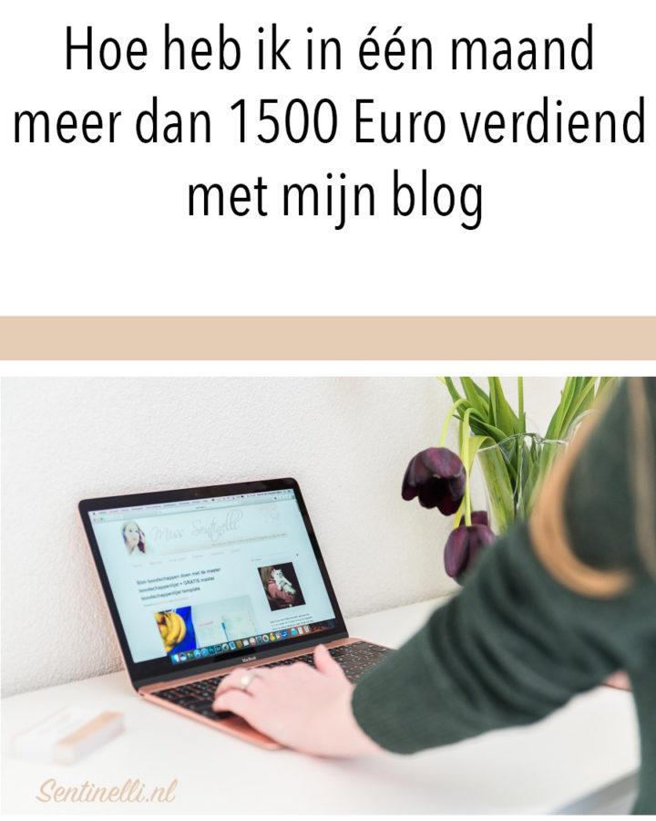 Hoe heb ik in één maand meer dan 1500 Euro verdiend met mijn blog