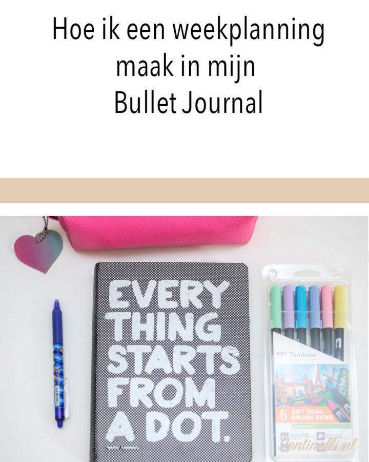 Hoe ik een weekplanning maak in mijn Bullet Journal