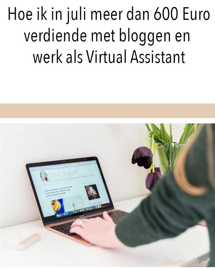 Hoe ik in juli meer dan 600 Euro verdiende met bloggen en werk als Virtual Assistant