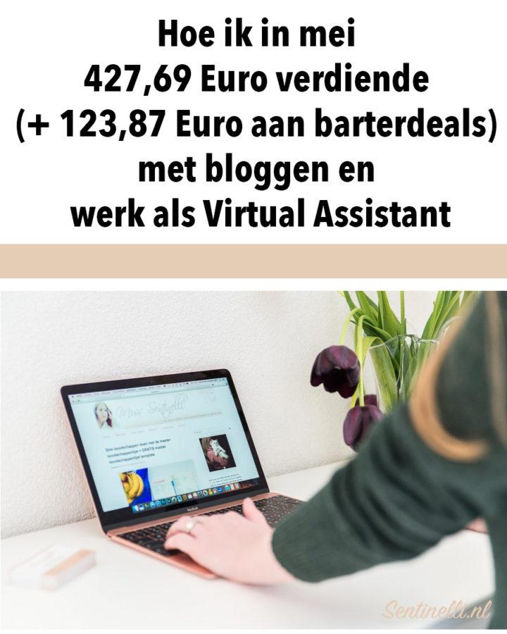 Hoe ik in mei 427,69 Euro verdiende (+ 123,87 Euro aan barterdeals) met bloggen en werk als Virtual Assistant