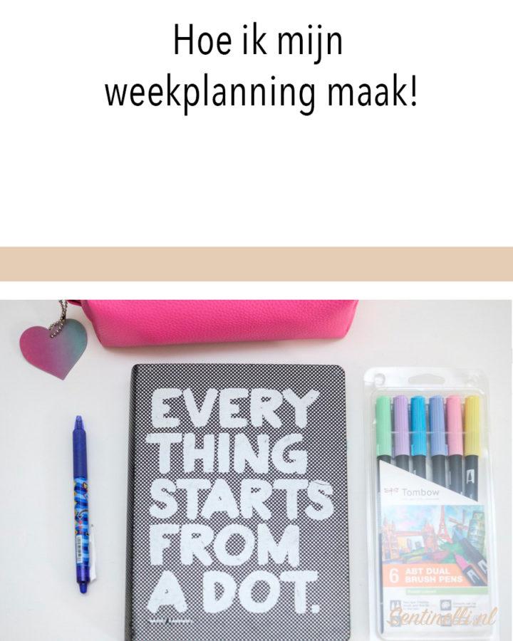 Bereid je voor op een goede week met een weekplanning!