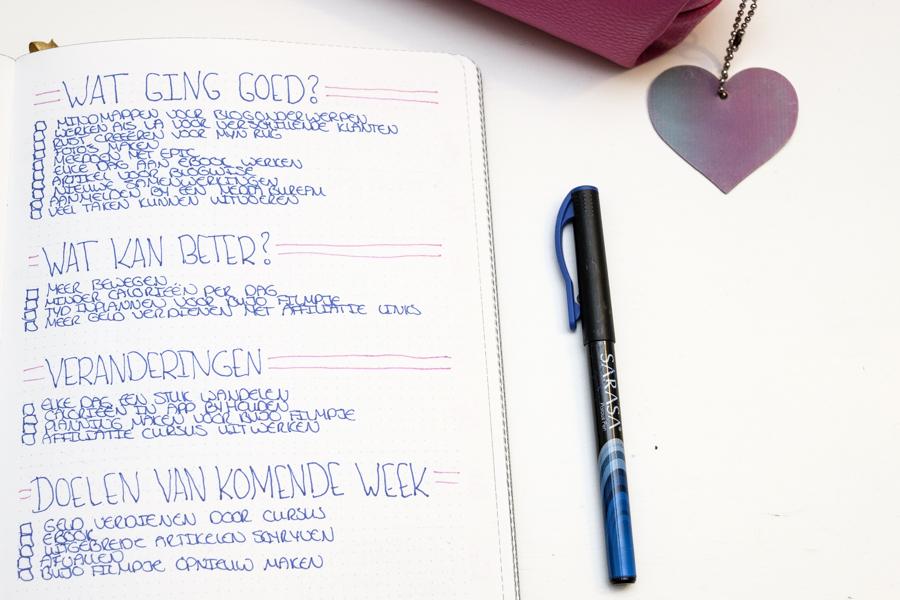 Hoe ik op zondag mijn week review + GRATIS week review template-2