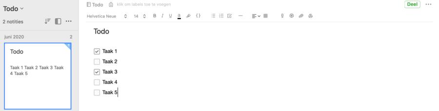 Hoe maak ik gebruik van Evernote - Todo lijsten
