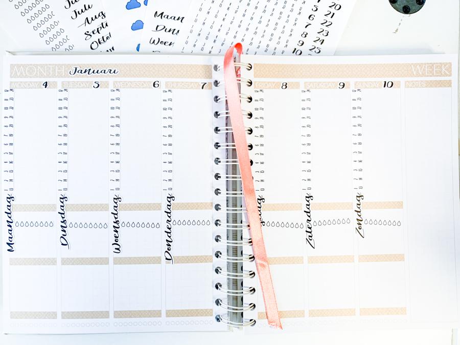 Januari planning in de nieuwe JOSH V Mascha Planner