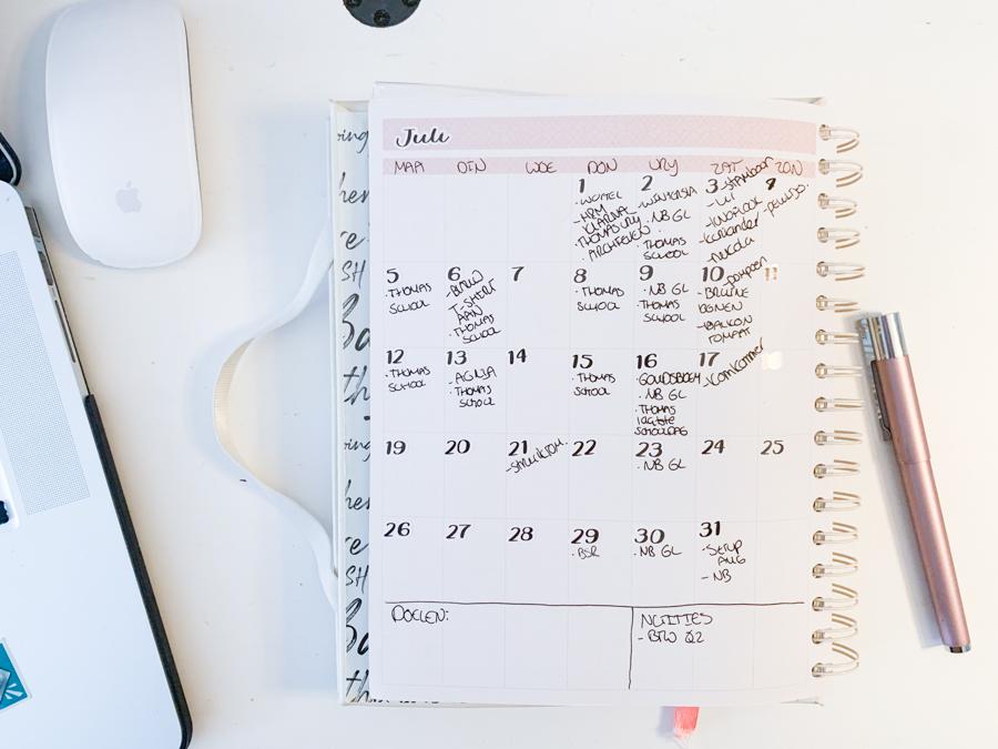 Juli planning in de JOSH V Mascha Planner