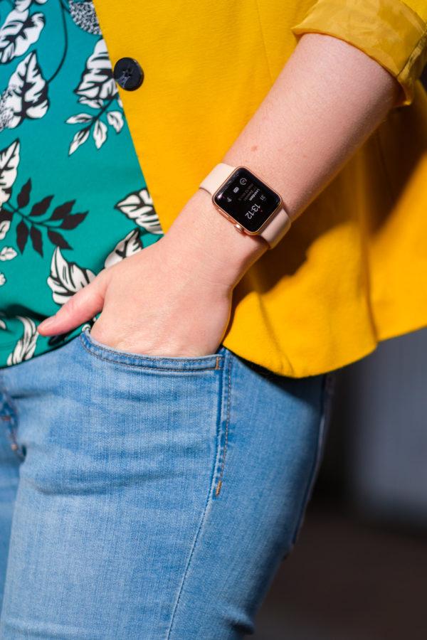 Mijn nieuwe roze Apple Watch Series 3