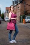 Mijn nieuwe roze geweven leren shopping bag 'TL KeyLuck' van ToscaneTips