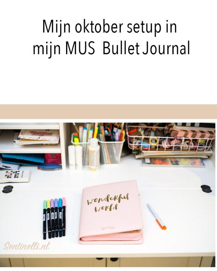 Mijn oktober setup in mijn MUS Bullet Journal