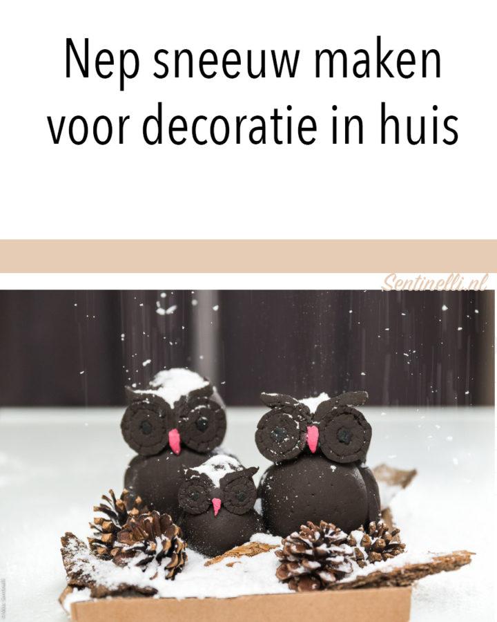 Nep sneeuw maken voor decoratie in huis