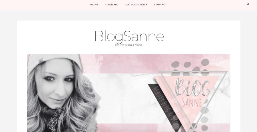 Nieuwe Beauty Blog & Vlog BlogSanne