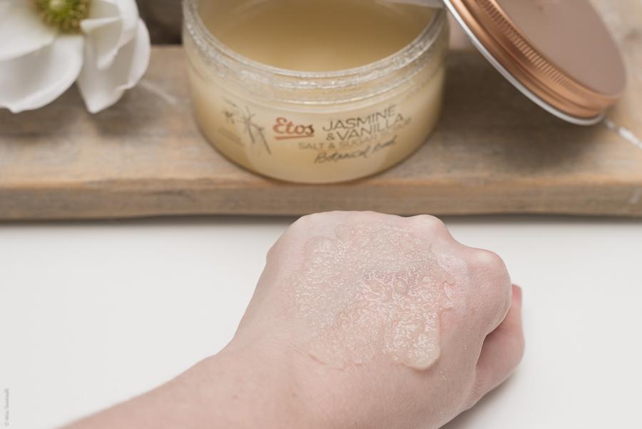 Etos Jasmine & Vanilla salt & sugar scrub