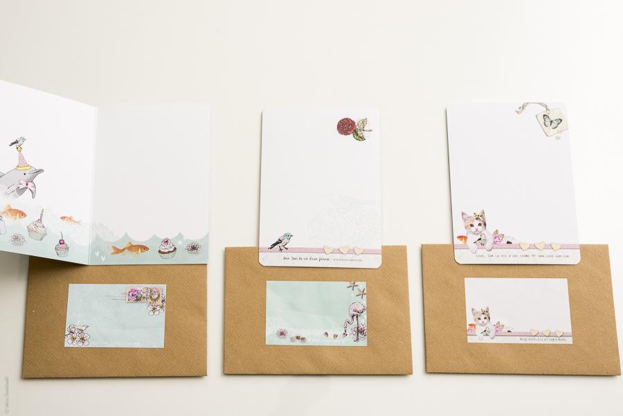 Love, Sam Stationery + Win 5 prachtige postkaarten met stickers en een gave art print!