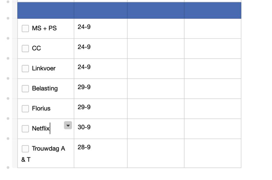 September planning in de Josh V Mascha Planner