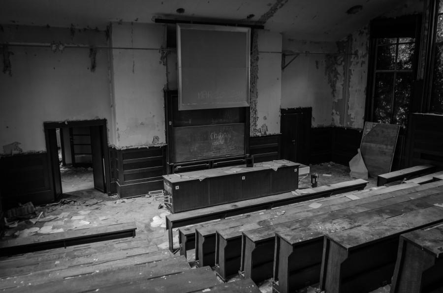 Verlaten universiteit