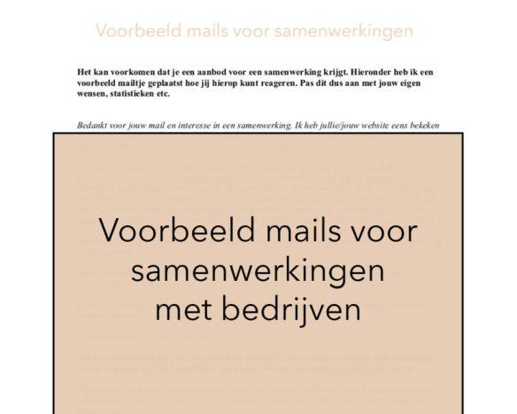 Voorbeeld mails voor samenwerkingen met bedrijven