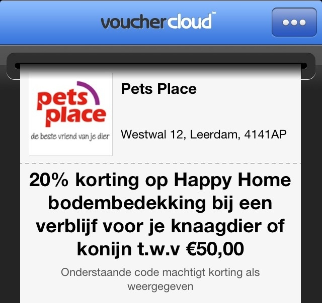 Vouchers en kortingen via Vouchercloud