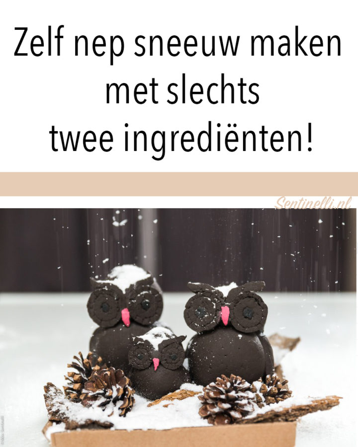 Zelf nep sneeuw maken met slechts twee ingrediënten!