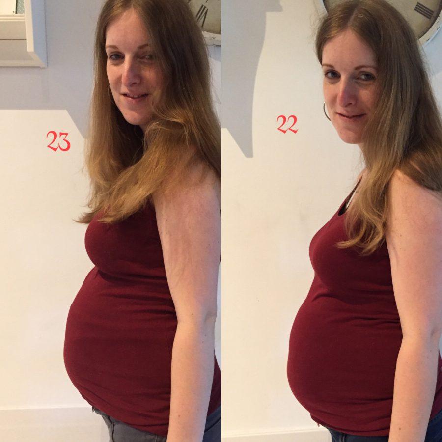 Zwangerschapsupdate 23 weken - bekkenpijn, controle & kinderwagen gekocht