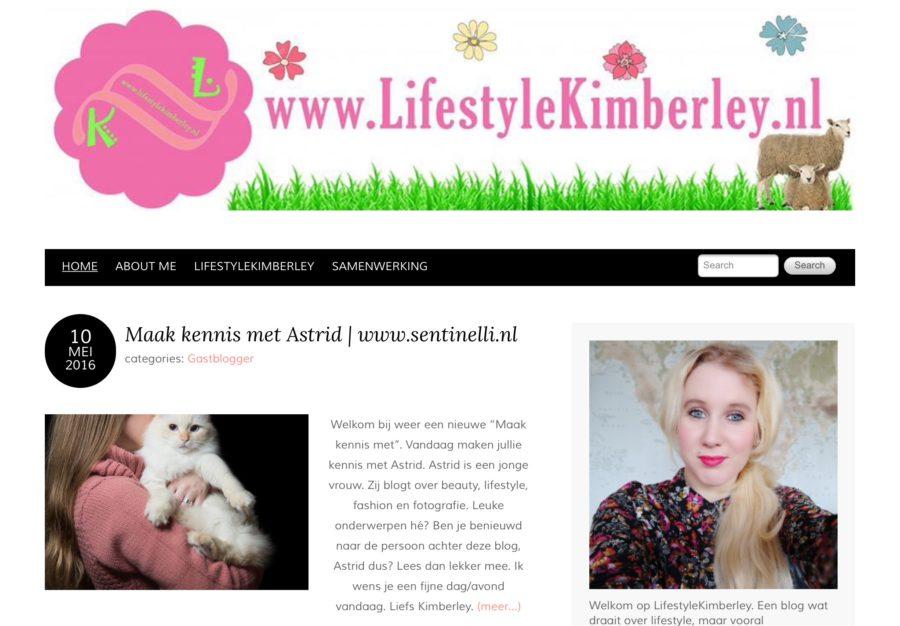 Interview op LifestyleKimberley.nl