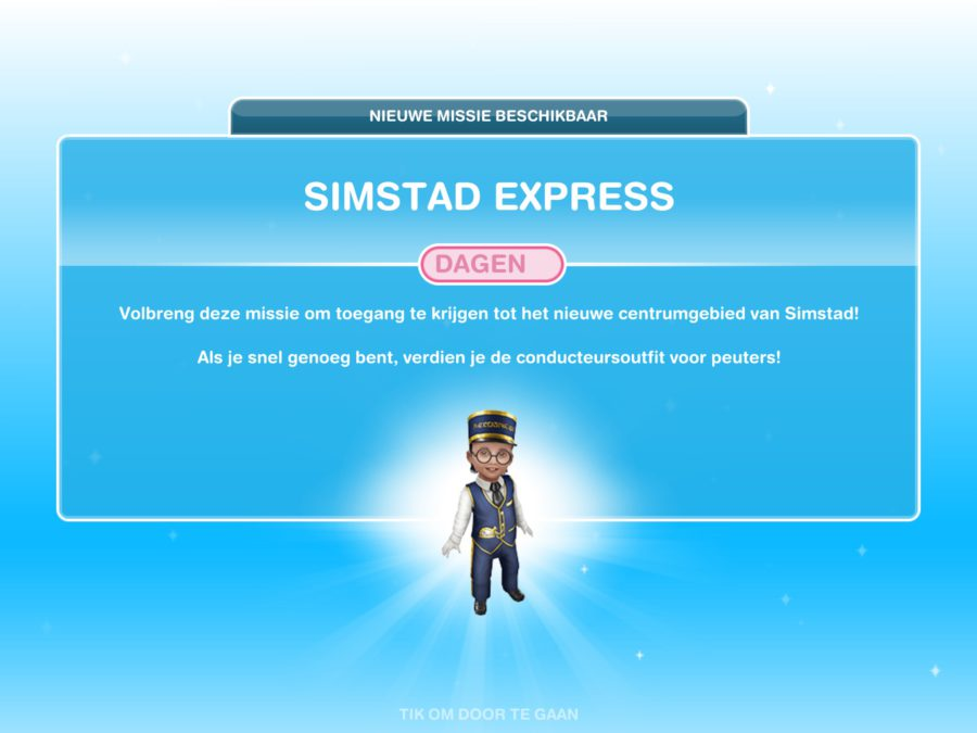 Missie walkthrough: Simstad Express