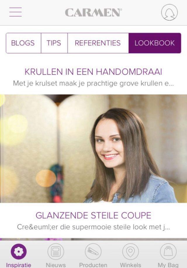 Nieuw: App voor haar- en beauty inspiratie van Carmen