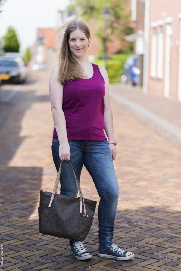 Jeans en top via Zalando