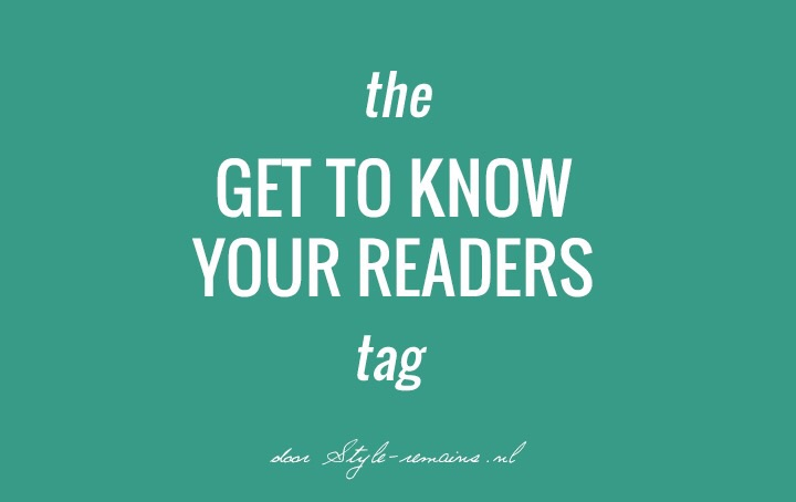Get To Know Your Readers tag