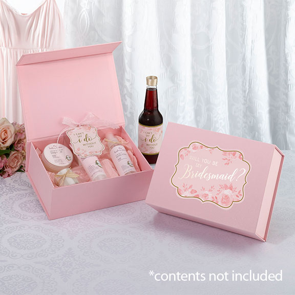 Bridesmaid Proposal Gift Box Pink Sentry Lane