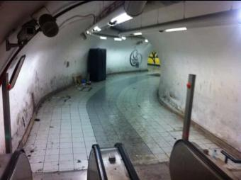 tunnel metro A. Spagna