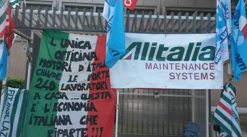 Alitalia Maintenance Systems, ancora attesa per i 240lavoratori