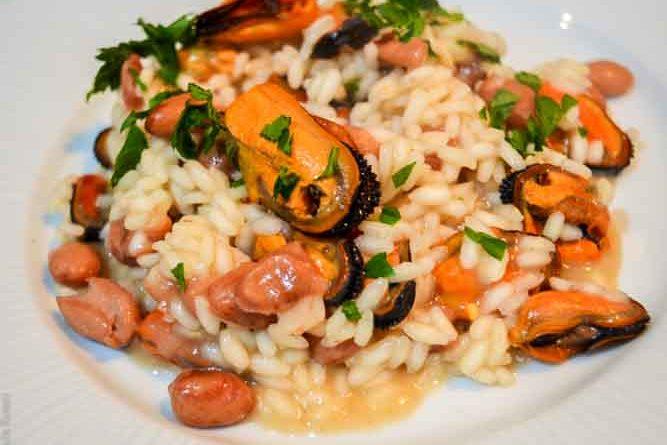 risotto cozze e fagioli