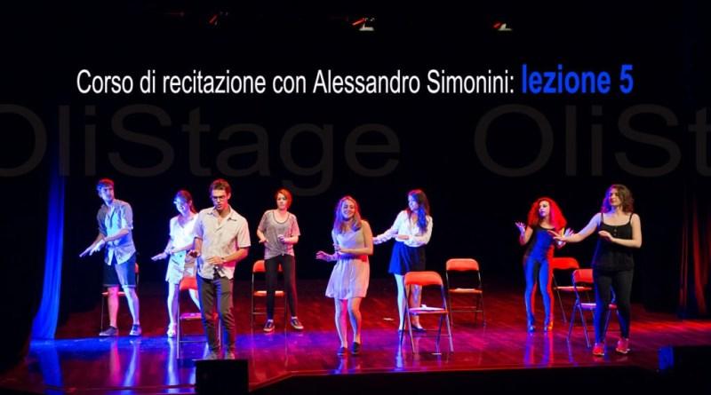 corso di recitazione Alessandro Simonini