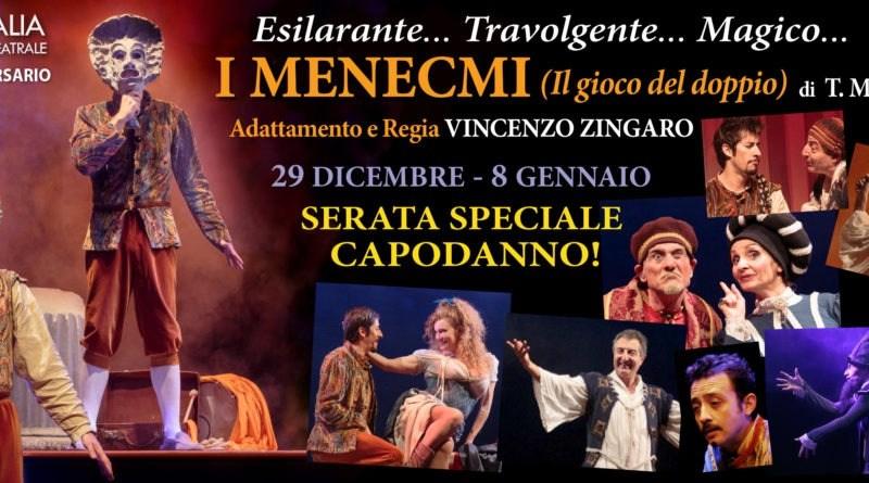 I Menecmi di Plauto, adattamento e regia di Vincenzo Zingaro, approda sul palcoscenico del Teatro Arcobaleno