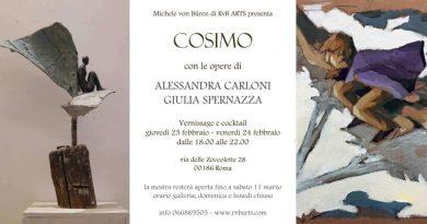 Alessandra Carloni e Giulia Spernazza. Cosimo dal 23 febbraio al 11 marzo