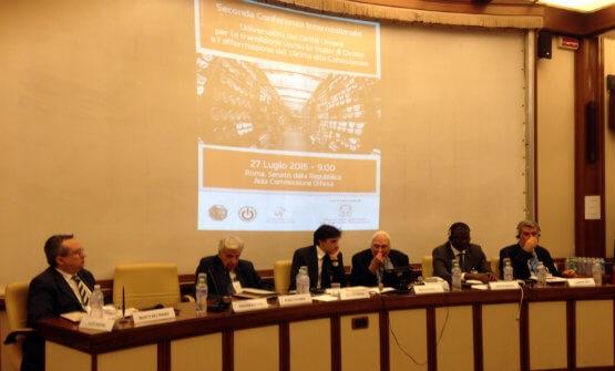 Conferenza stampa di presentazione del documento che istruisce la campagna per il riconoscimento in seno alle Nazioni Unite del diritto alla conoscenza come diritto umano universale.