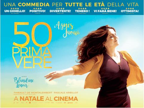 Quest'anno la primavera arriva a Natalecon la commedia50Primavere!Diretto da Blandine Lenoir, con Agnès Jaoui protagonista, al cinema dal 21 dicembre.