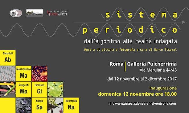 Dal 12 novembre a RomaFotografia e pittura protagoniste di una nuova indagine sulla realtà.Sistema Periodico - dall'algoritmo alla realtà indagata.