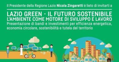 Lazio Green: 4 bandi dedicati alle PMI, per un totale di 43 milioni di Euro da investire in azioni ambientali. Per una economia globale più sostenibile.