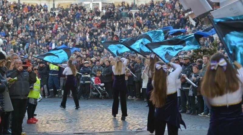 Lunedì 1 gennaio 2018 dalle15,30 inPiazza del Popolo, con accesso libero a tutti, l'undicesimo Rome new year's dayparade.