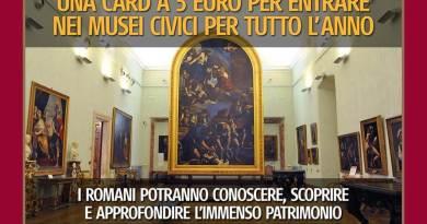 Nasce Mic, la card annuale a 5 euro per visitarei MuseiCivici.Dalla primavera del 2018 accesso illimitato ai cittadini romani.