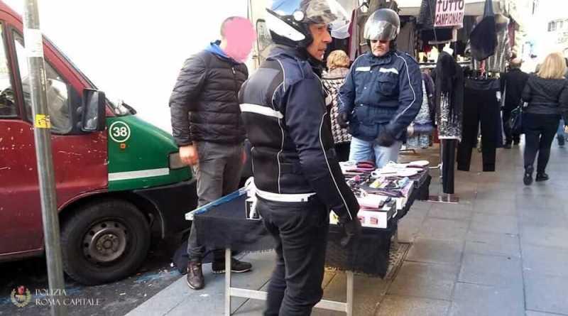 Lotta all'abusivismo commerciale, 50.000 pezzi sequestrati dalla Polizia Locale nel mese di febbraio. Dichiarazioni di Adriano Meloni.