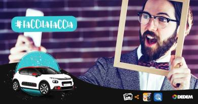 """#Faccilafaccia con Dedem. Il 10 marzo si conclude a Roma il concorso lanciato dalla """"madre di tutti i selfie"""". Dalle ore 16, a Roma, presso Citroën Filiale di Roma in Via Tiburtina 1144."""