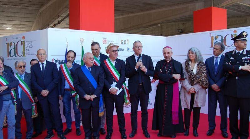 Il presidente della Regione Marche Luca Ceriscioli ieri è intervenuto a Villapotenza per l'inaugurazione della Raci, rassegna agricola del Centro Italia.